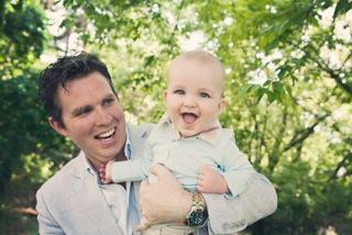 Dan Carey and his son